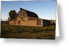 Mormon Row Barn Sunset Greeting Card
