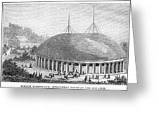 Mormon Tabernacle, 1870 Greeting Card
