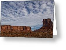 Morning Clouds Over Monument Valley Greeting Card
