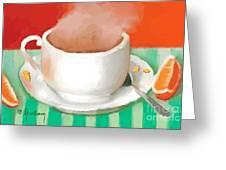 Morning Coffee Greeting Card