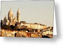 Sacre Coeur In A Summer Morning Greeting Card