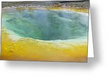 Morning Glory Pool, Yellowstone Greeting Card by Tony Craddock