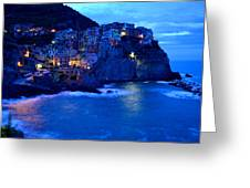 Morning In Manarola Greeting Card by Barbara Walsh