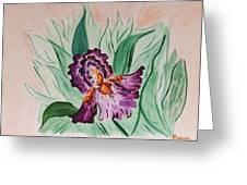 Morning Iris Greeting Card