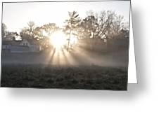 Morning Light At Valley Forge Farm Greeting Card