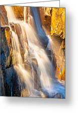 Morning Light On Lower Falls Greeting Card