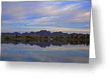 Morning Light On The River Greeting Card