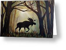 Morning Meandering Moose Greeting Card