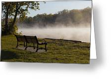 Morning Mist Over The Hudson River Greeting Card