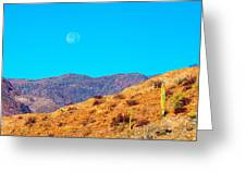 Morning Moon In Baja Greeting Card
