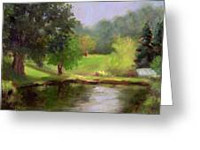 Morning On A Pond Greeting Card