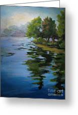 Morning Over Fowler Lake Greeting Card