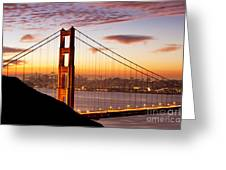 Morning Over San Francisco Greeting Card