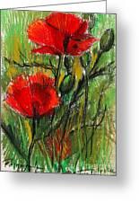 Morning Poppies Greeting Card