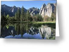 Morning Reflection At Yosemite Greeting Card