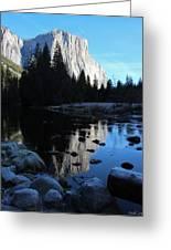Morning Sunlight On El Cap Greeting Card