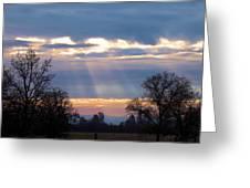 Mornings Heavenly Light Greeting Card