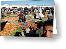 Moroccan Market Photo 01 Greeting Card