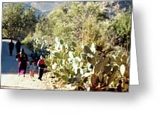 Moroccan People And Cacti Greeting Card
