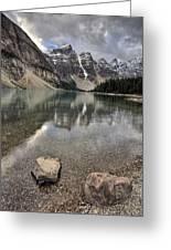 Morraine Lake Alberta Greeting Card