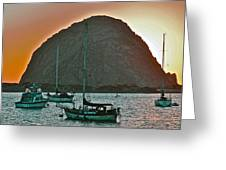 Morro Bay Rock Greeting Card