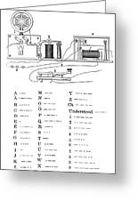 Morse Apparatus And Alphabet, 1877 Greeting Card