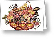 Mosaic Fruits Greeting Card