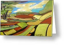 Mosaic Landscape Greeting Card