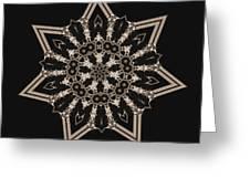 Mosaic Work Of Sepia Art  Greeting Card