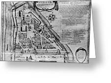 Moscow: Map, 17th Century Greeting Card
