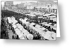 Moscow Russia - The Great Sunday Market - C 1898 Greeting Card