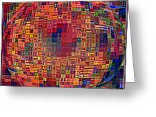 Mosiac Sphere Greeting Card
