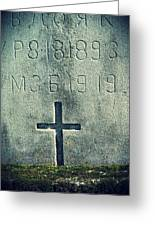Mossy Tomb Greeting Card