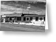 Motel Studios Bw Greeting Card