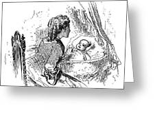 Mother And Child, 1873 Greeting Card