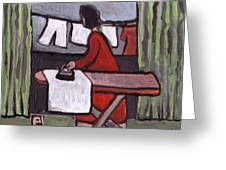 Mother  Ironing Greeting Card