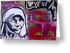 Mother Theresa Living Simply Greeting Card