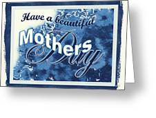 Mothers Day In Blue Greeting Card