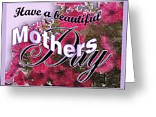 Mothers Day Pink Petunias Greeting Card