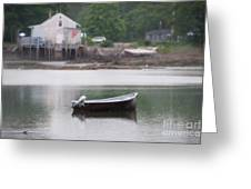 Motor Boat Kennebunkport Maine Greeting Card