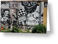 Motor City Graffiti Art Greeting Card