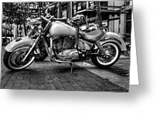 Motor Cycle Greeting Card