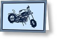 Motorbike 1a Greeting Card