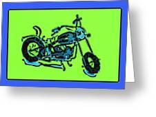 Motorbike 1c Greeting Card