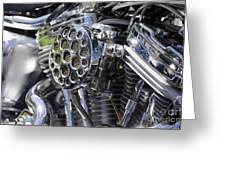 Motorcycle Engine Greeting Card