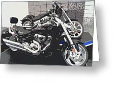 Motorcycle Ride - Five Greeting Card