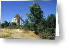 Moulin Of Daudet. Fontvieille. Provence Greeting Card by Bernard Jaubert