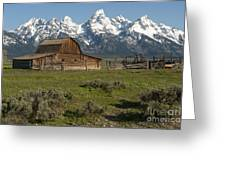 Moulton Barn - Grand Tetons Greeting Card