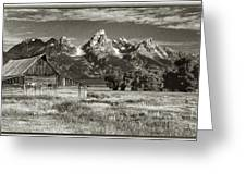 Moulton Barn And The Grand Tetons Greeting Card