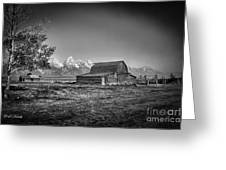 Moulton Barn Bw Greeting Card